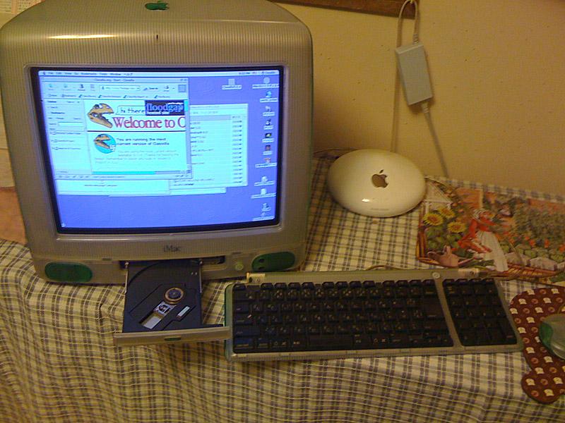 iMacとフロッピーディスクドライブ
