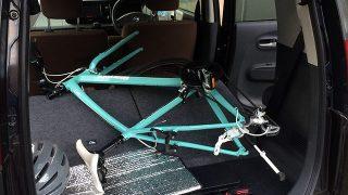 軽自動車にクロスバイクを車載して福島へ。